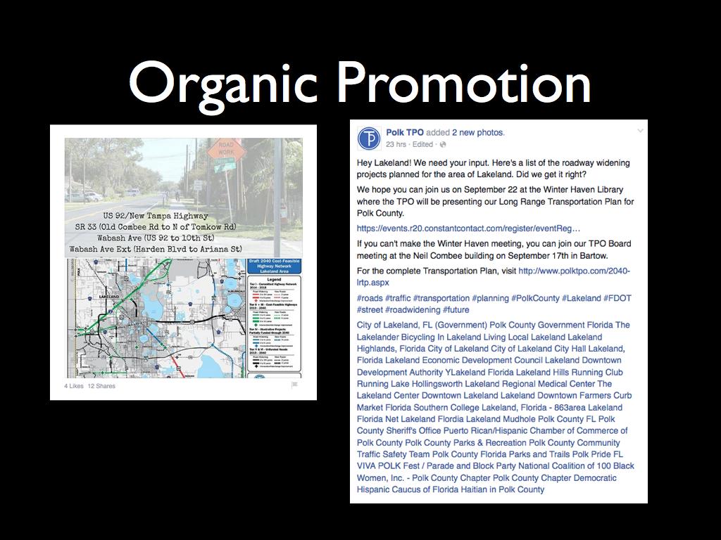 Organic Promotion
