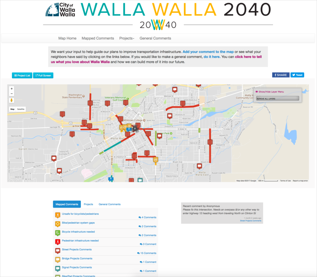 Walla Walla Multiple Surveys Feature